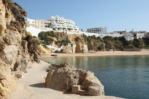 Beach scene,Albufeira Algarve Portugal