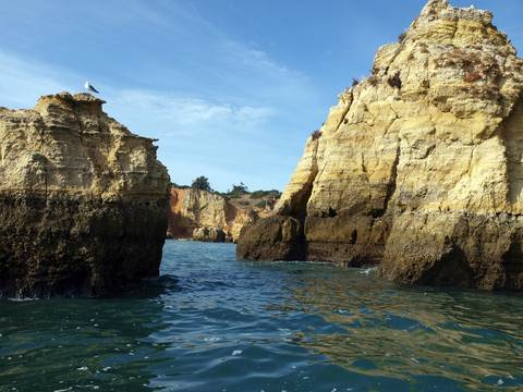 Algarve Lagos Grotto Tour of sea cliffs and caves