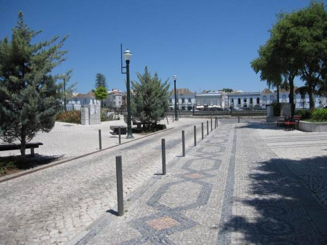 Tavira Portugal approaching Roman bridge