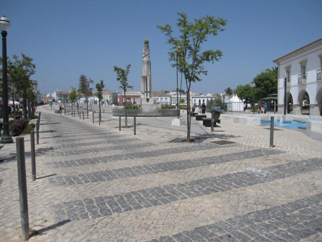 Tavira Algarve Portugal.Music end of square