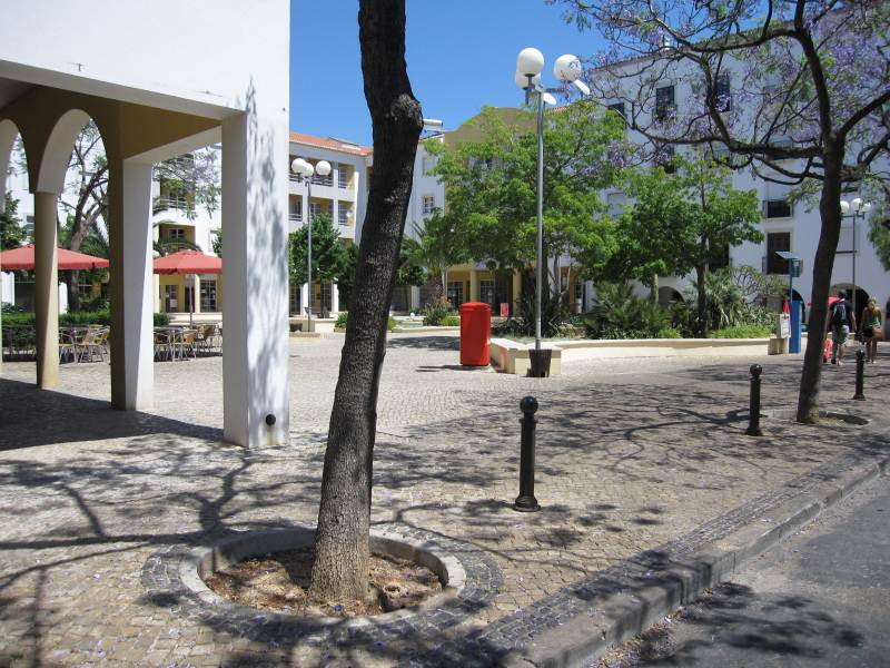Typical Tavira Square.
