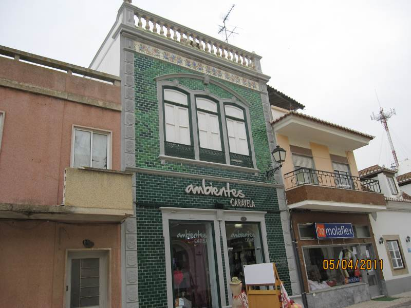 VILA REAL SANTO ANTONIO ,EAST ALGARVE.A tiled building.