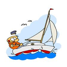 A sailing in the Algarve cartoon