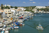 tavira river from east-west-algarve
