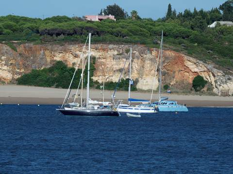 Portimao boats on the Algarve coast