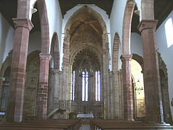 Inside Silves Cathedral in the Algarve.