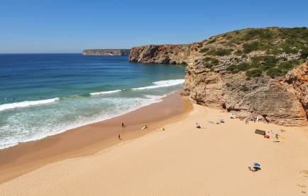 PORTUGAL SURFING BEACH IN THE ALGARVE