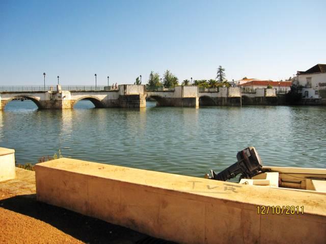 Roman Bridge in Tavira the Algarve Portugal